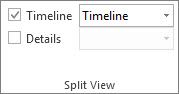Timeline check box in Project