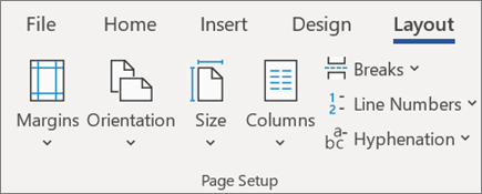 Change layout in Word
