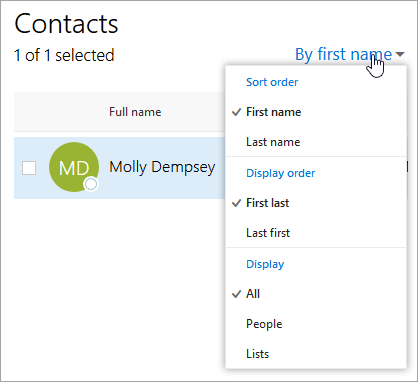 Using contacts (People) in Outlook on the web - Office Support