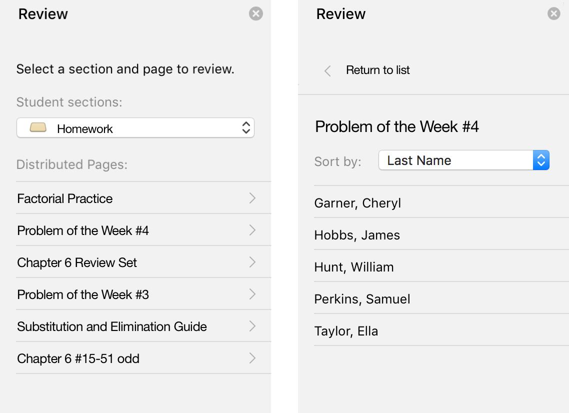 Review task pane