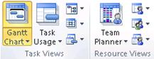 Task and Resource Views groups graphic