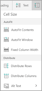 Windows Mobile AutoFit options