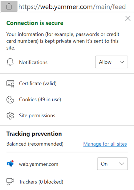 Screenshot showing how to enable browser notification settings
