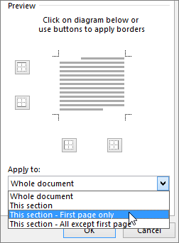 Shows the Apply To options in the Borders and Shading dialog box