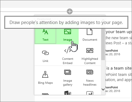 Modern web app picker with Image highlighted