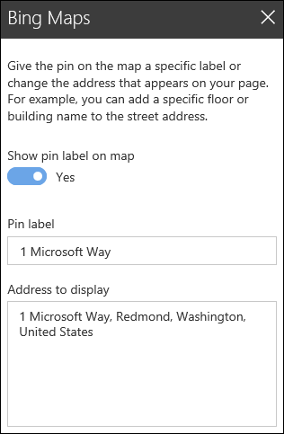 Bing Maps Web Part Toolbox