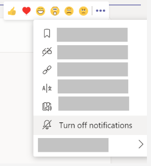 Image of setting to turn off notifications for channel conversations