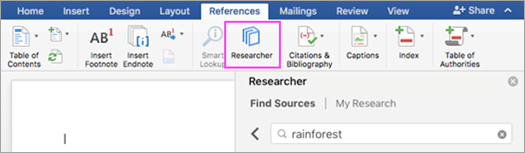 Find the research materials you need right from Word.