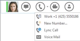 Screenshot of make a call option