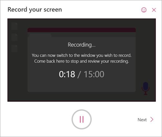 Screen Recorder has begun recording