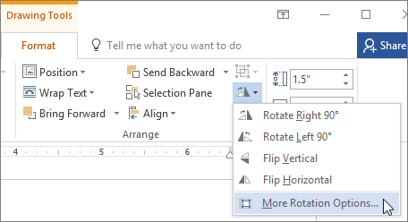 rotate a picture in open office