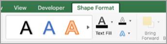 Shape Format tab