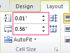 Set the height and width of a table cell