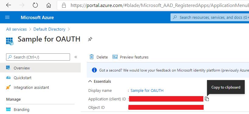 Azure Active Directory App Registrations Application ID