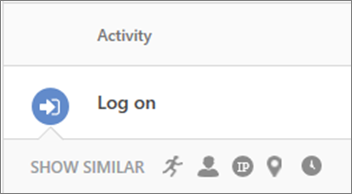 In the relevant insights drawer, you can click the clock icon to see activities performed within 48 hours of a selected activity