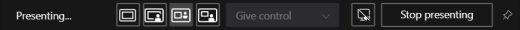 Presenter toolbar