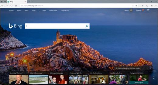 Edge browser window