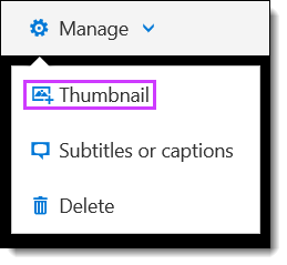 O365 Video Add aThumbnail