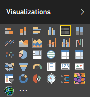 Choose Stacked bar chart in Visualizations in Power BI
