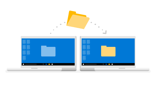 A folder transferring from one PC onto another