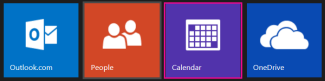 Outlook.com main menu - select Calendar