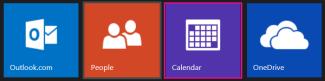Outlook.com main menu - select Calendar