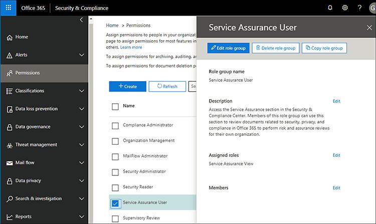 Service Assurance User - Add