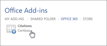 Add custom Office Add-In