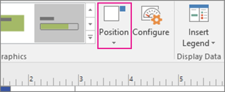 Data tab, Position button