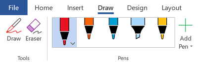 Inking tools in Office 365