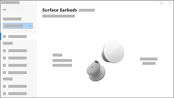 Screenshot of Surface Audio app with Surface Earbuds