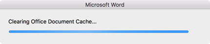 """Clearing Office Document Cache"" progress bar"