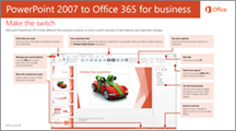 Thumbnail for guide for switching from PowerPoint 2007 to Office 365