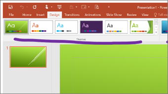 Start Getting Started PowerPoint 2016 training