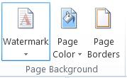 how to make a draft watermark in word