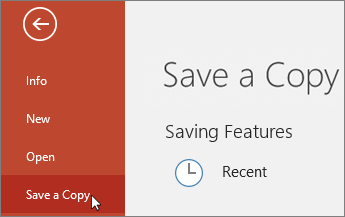 File > Save a Copy