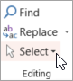Select in the Editing group