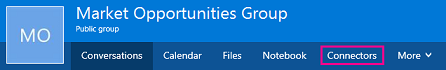 Connectors option on the Groups ribbon