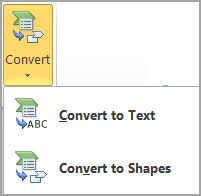 Convert SmartArt to shapes