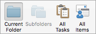 Shows the Tasks search options