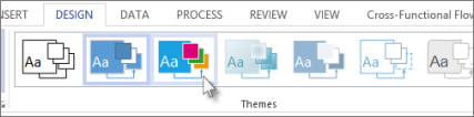 Theme gallery in Visio - www.office.com/setup