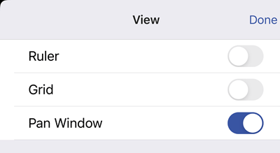 Turn on the Pan window in the View options.