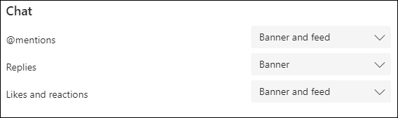 Chat notification option on desktop