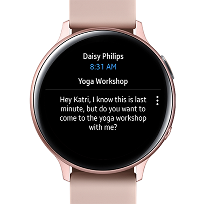 Android Galaxy watch for Outlook