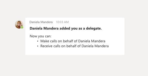 Delegate chat
