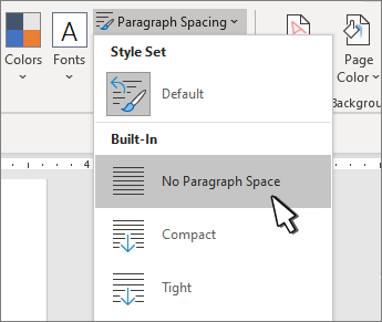 Set single space on document