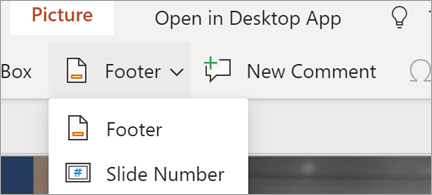 Shows Footers and Slide numbers in PowerPoint