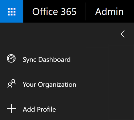 Screenshot of Add Profile option in the menu of School Data Sync.