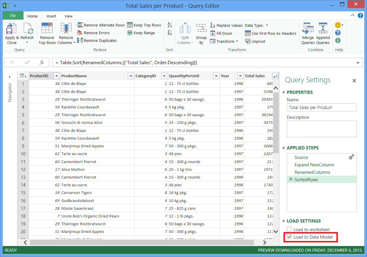 Combine data from multiple data sources (Power Query) - Excel