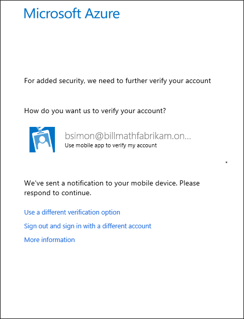 Microsoft sends notification